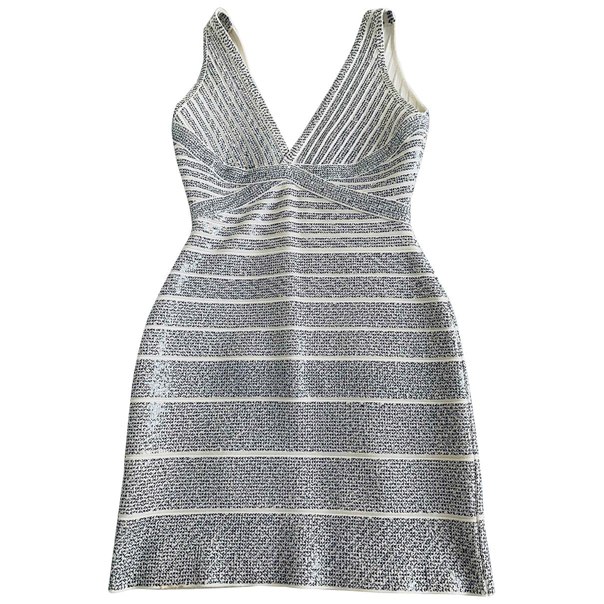 Herve Leger \N Kleid in  Silber Polyester