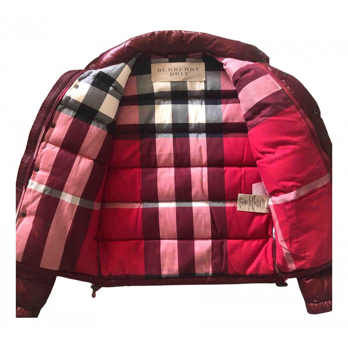 Burberry - Manteau   pour homme - rouge