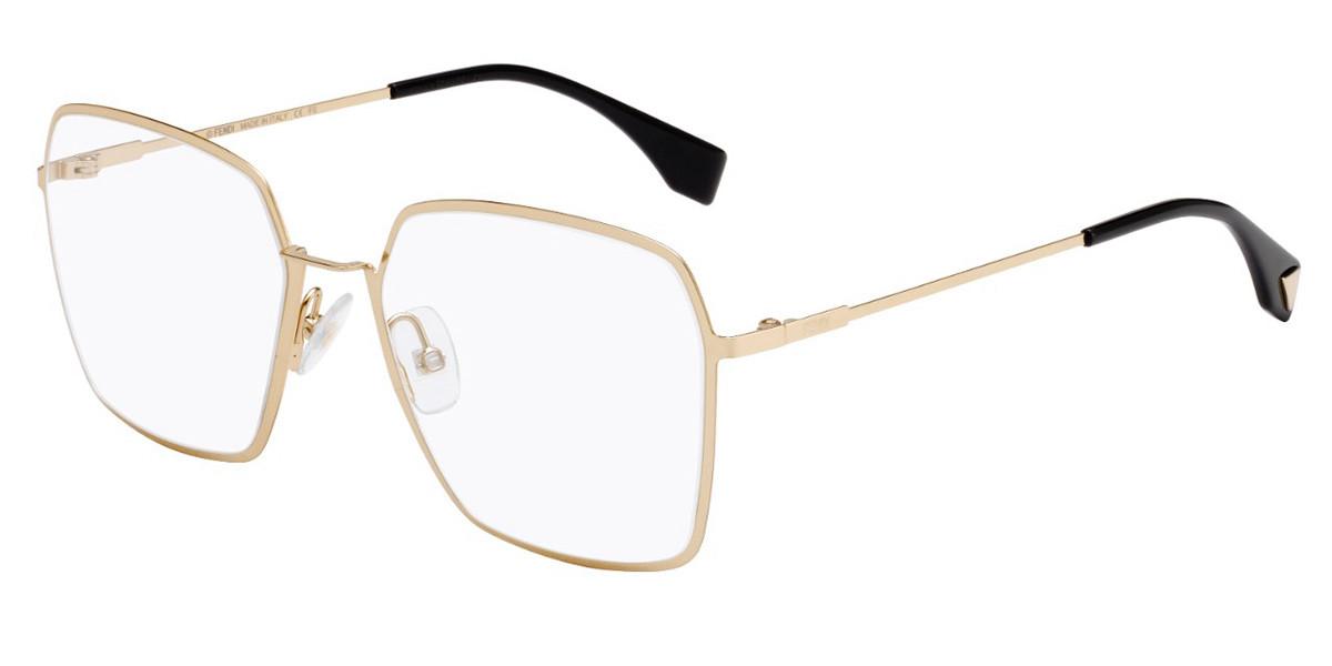 Fendi FF 0333 J5G Women's Glasses Gold Size 55 - Free Lenses - HSA/FSA Insurance - Blue Light Block Available