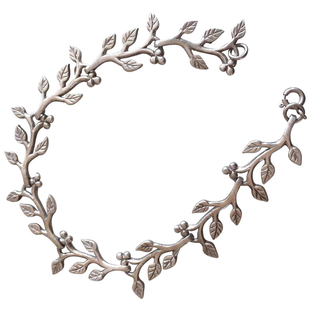 Pulsera Motifs Floraux de Plata Non Signe / Unsigned