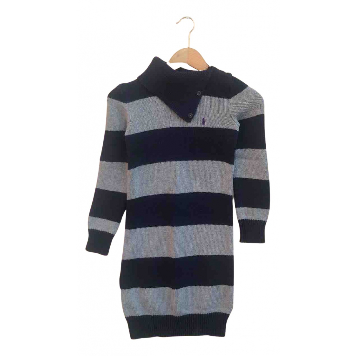 Ralph Lauren \N Kleid in  Marine Baumwolle