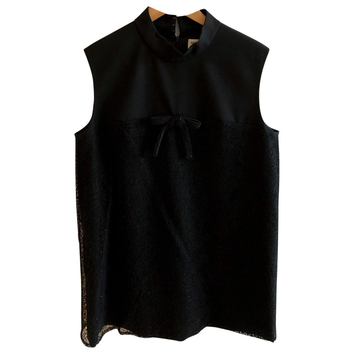 Saint Laurent N Black Lace dress for Women 46 FR