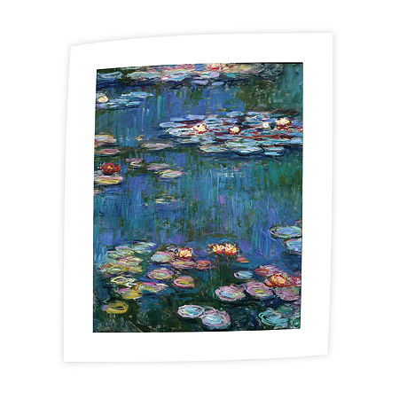 Brushstone Water Lillies By Claude Monet Canvas Wall Art, One Size , Blue