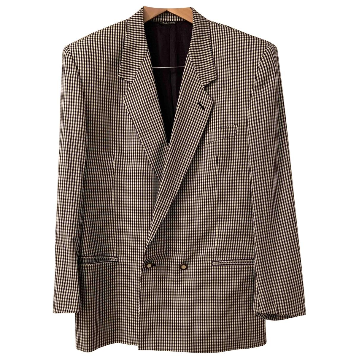 Versus \N Black Wool jacket  for Men 48 IT