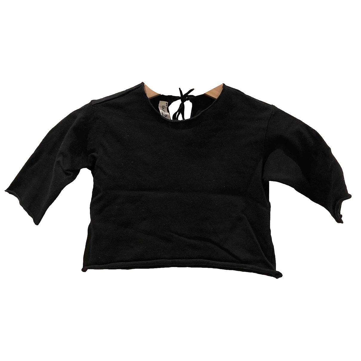Babe & Tess - Top   pour enfant en coton - noir