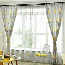 Vorhang mit Hirsch Muster