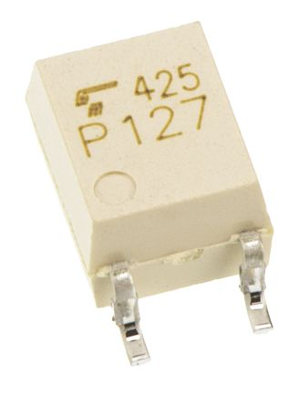 Toshiba , TLP183(E(T DC Input Phototransistor Output Optocoupler, Surface Mount, 4-Pin SO6 (25)