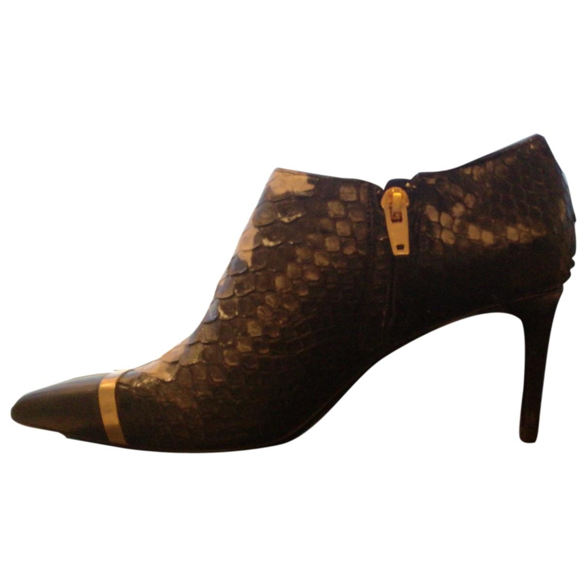 Saint Laurent Mica Black Python Ankle boots for Women 38 EU