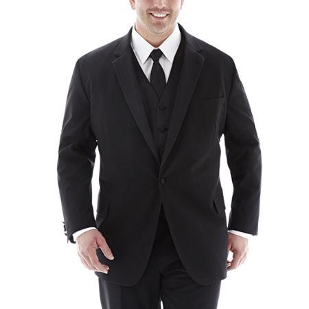JF J. Ferrar Tuxedo Jacket-Big & Tall, 58 Big Long, Black