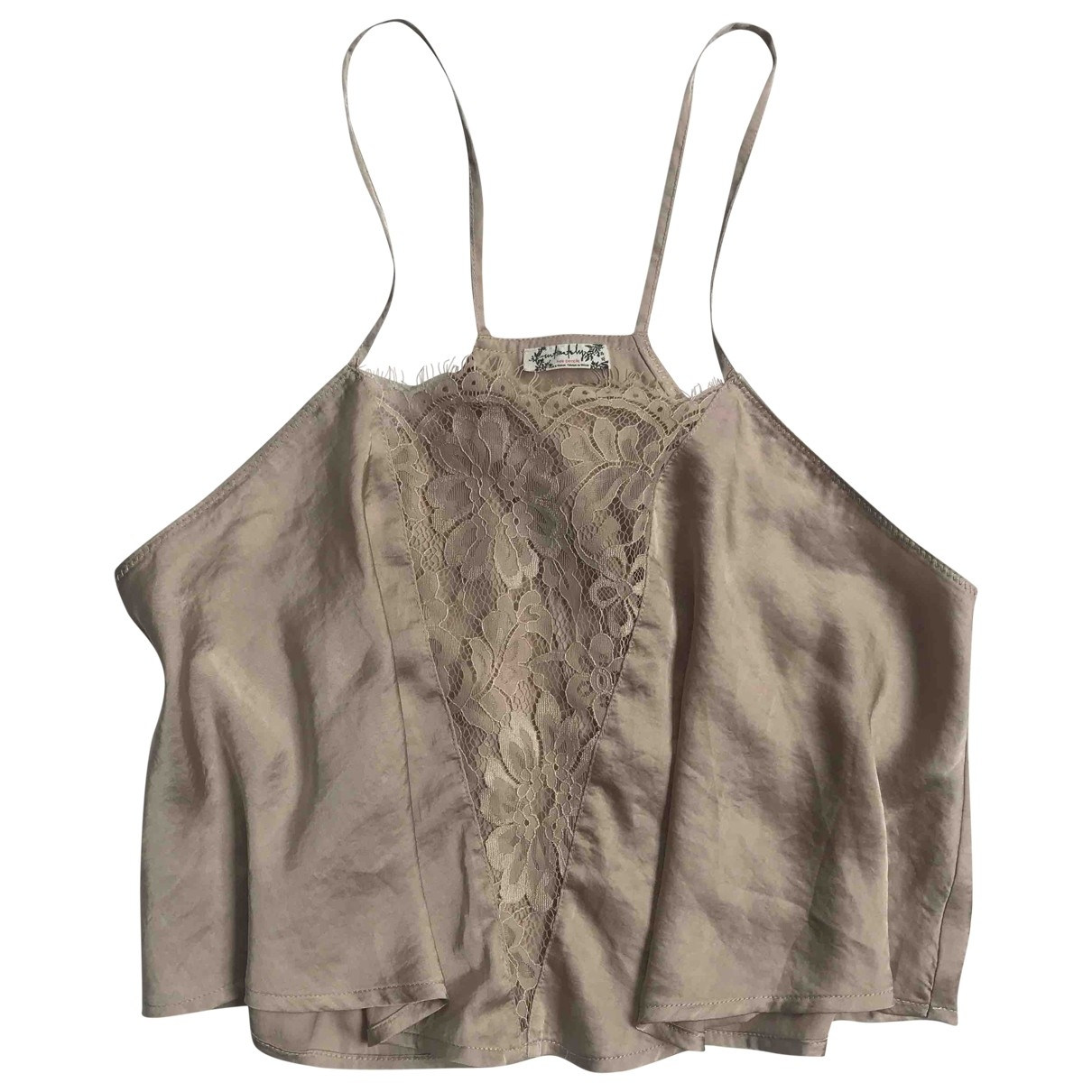 Free People - Top   pour femme - beige