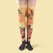 Socken mit Kuerbis Muster