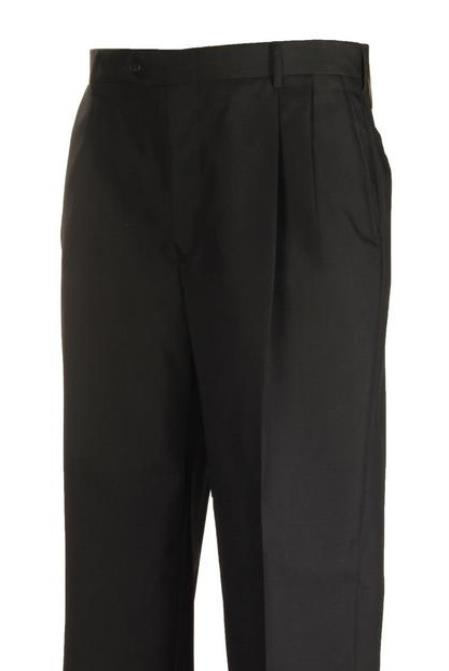 Black Clothing Manufacturers In America Pleated Separate Dress Pants