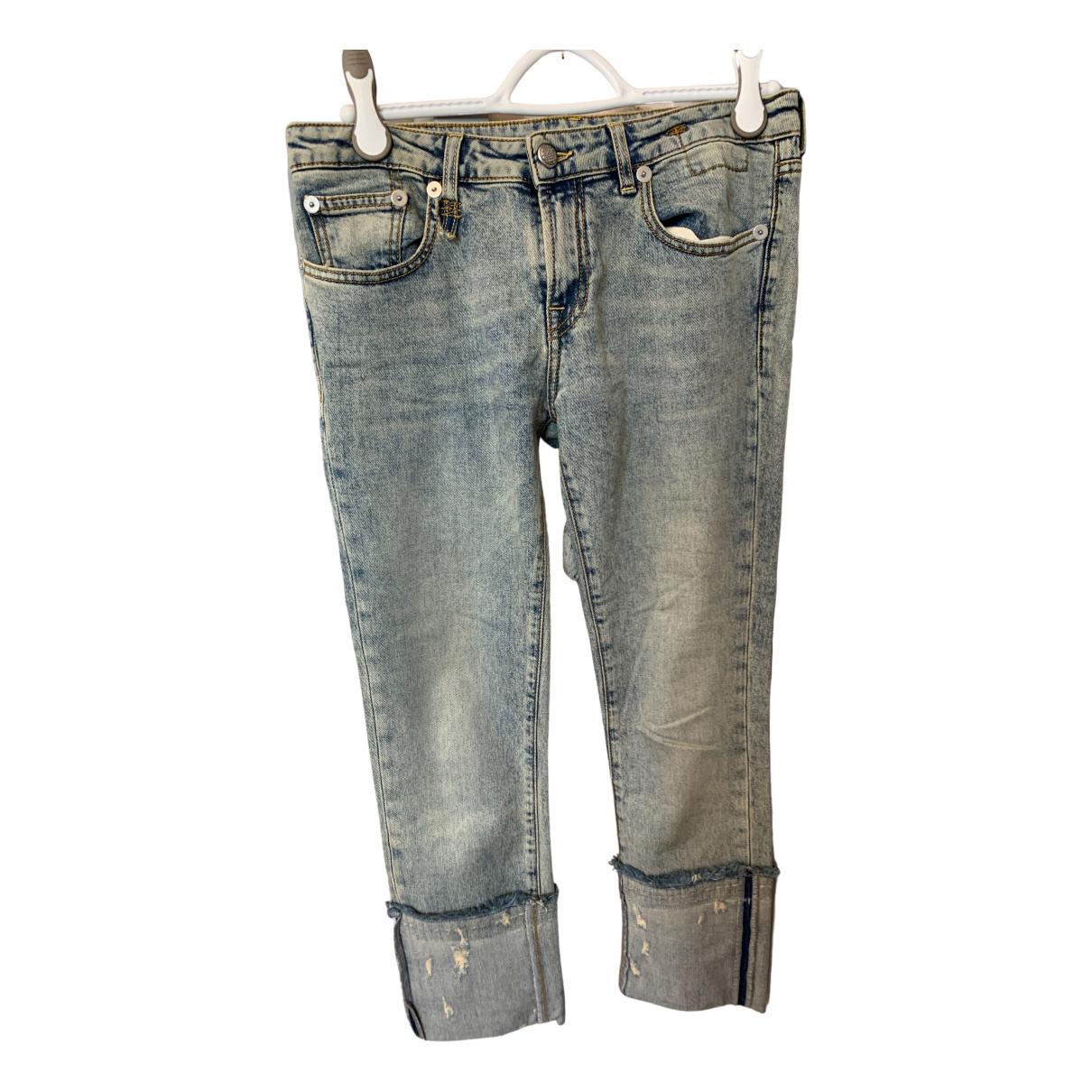 R13 - Jean   pour femme en coton - elasthane - bleu
