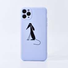 iPhone Schutzhuelle mit Hund Muster