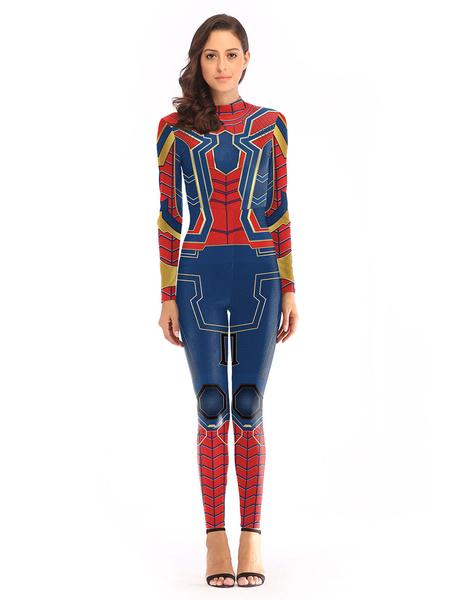 Milanoo Marvel Comics Spider Man Halloween Cosplay Jumpsuit Women\'s Cosplay Costume