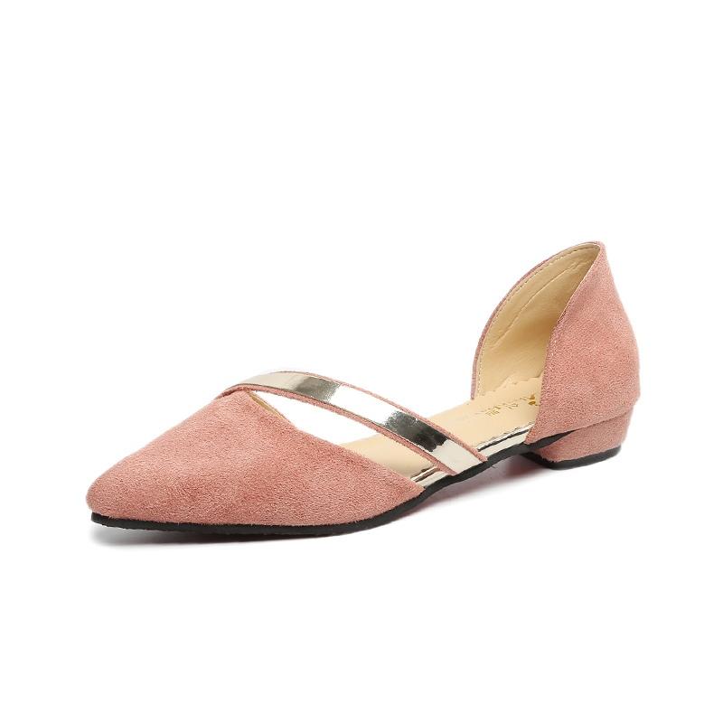 Ericdress Plain Pointed Toe Women's Flats