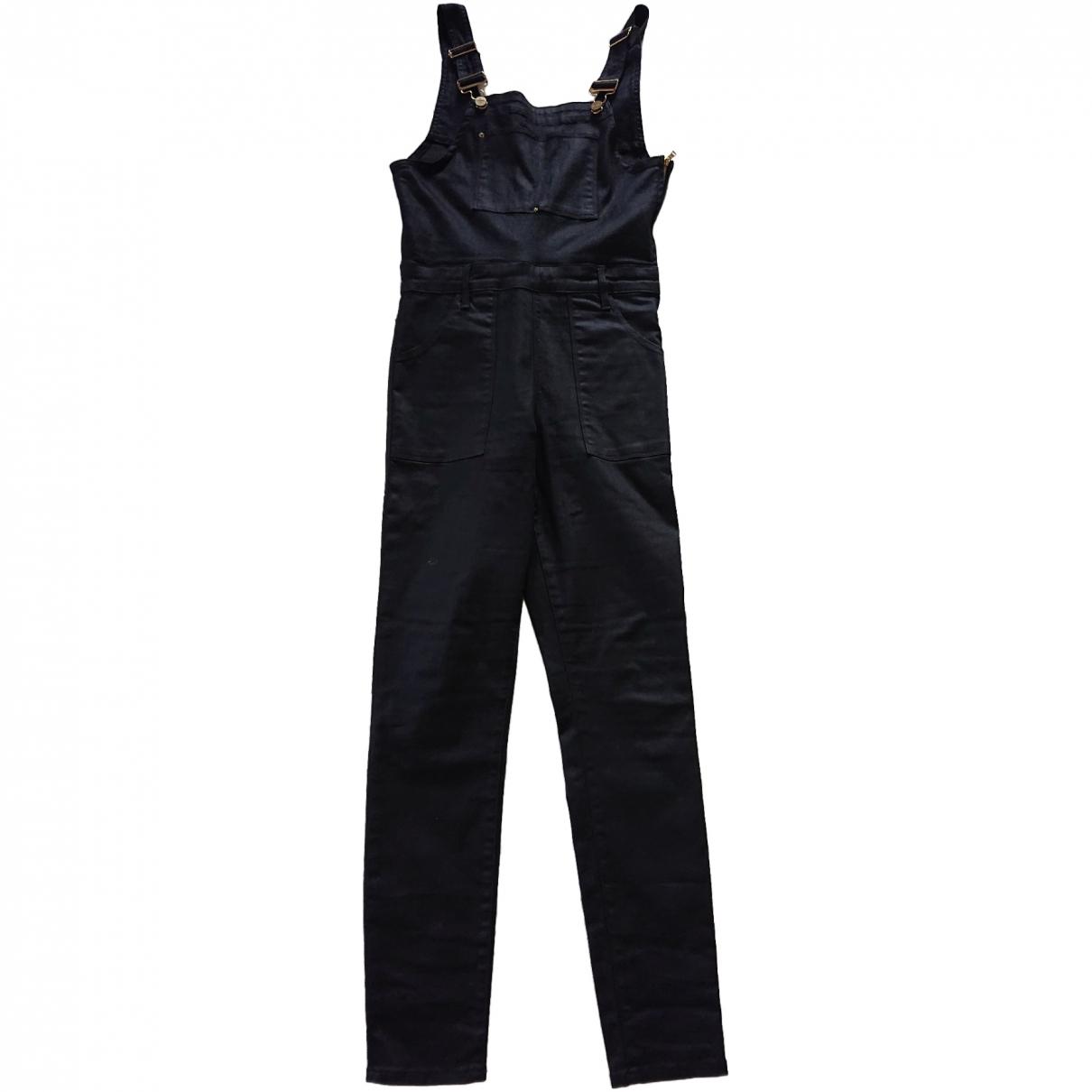 Frame Denim \N Black Cotton jumpsuit for Women M International