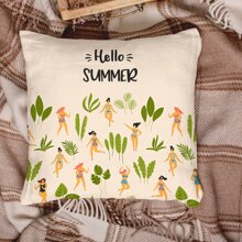 Women Print Cushion Cover Without Filler