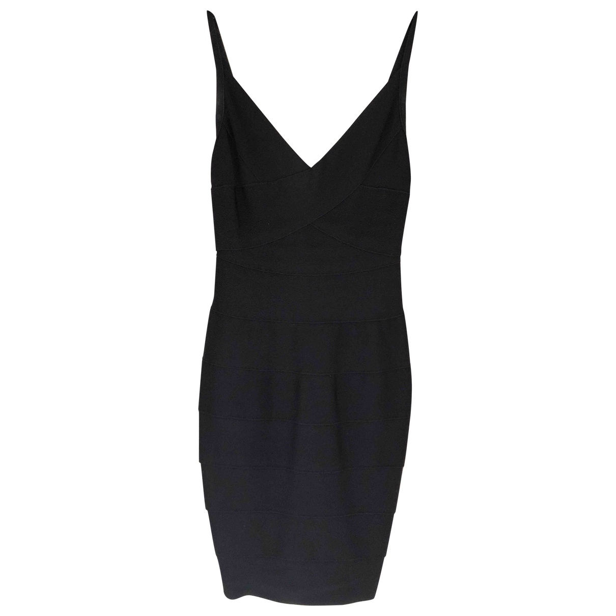 Herve Leger \N Black dress for Women 36 IT