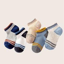 5 Paare Kleinkind Jungen Socken mit Streifen