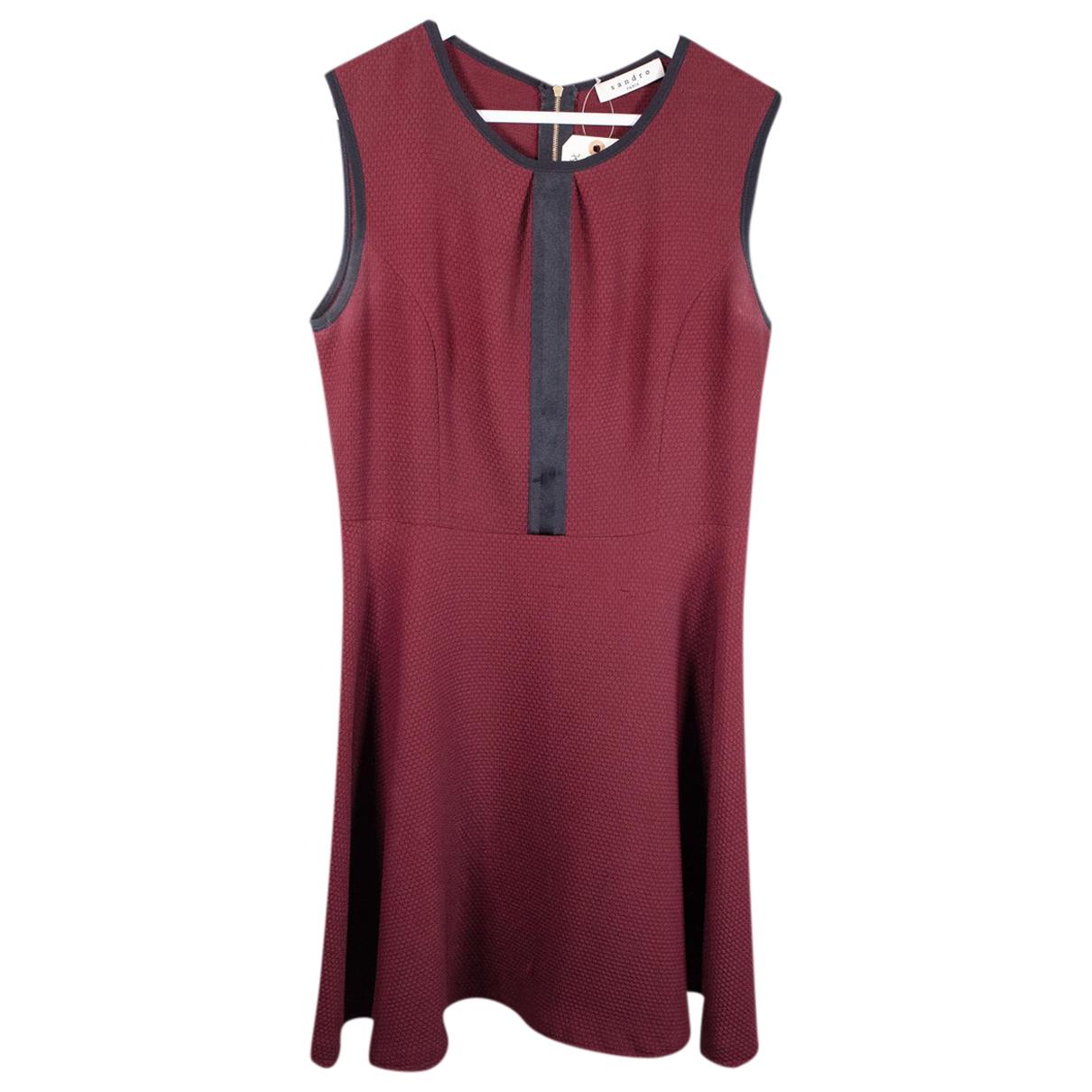 Sandro N Burgundy dress for Women 40 FR