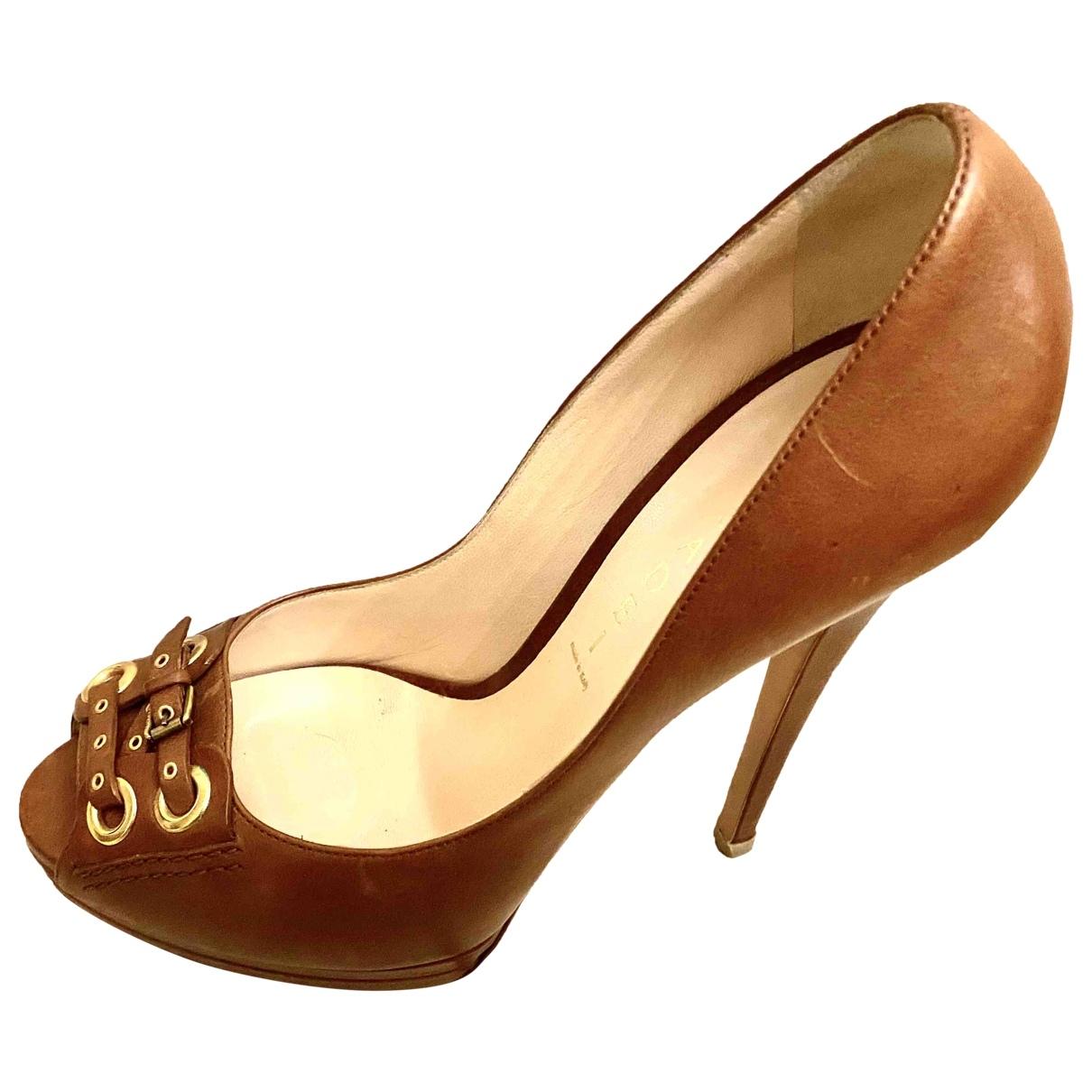 Casadei \N Camel Leather Heels for Women 39.5 EU
