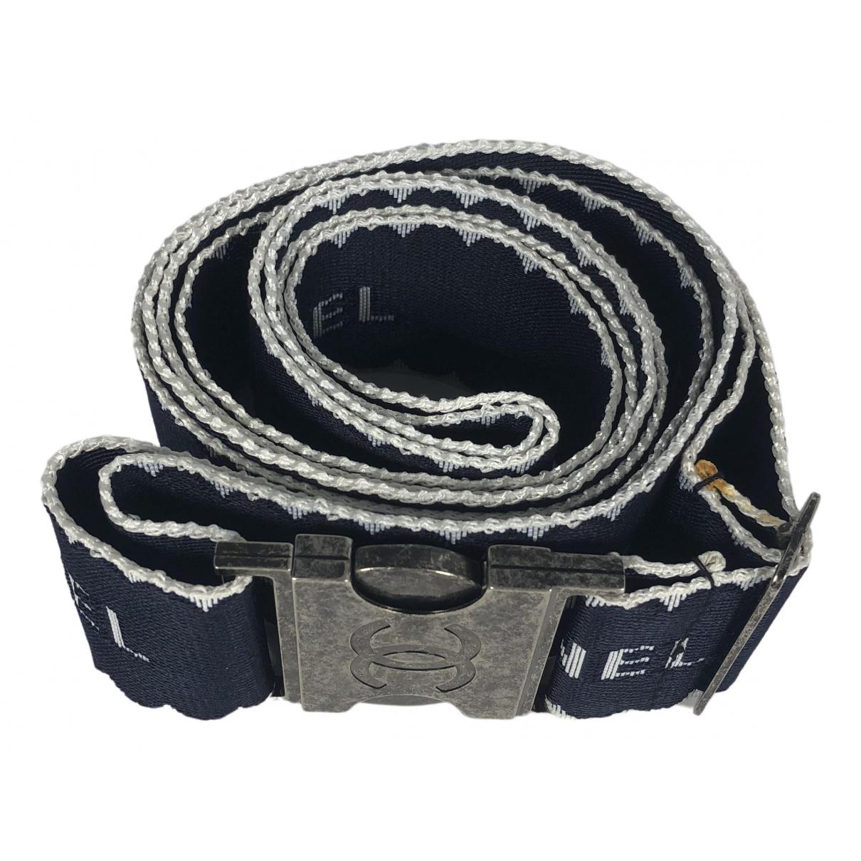 Chanel \N Blue Cloth belt for Women L International