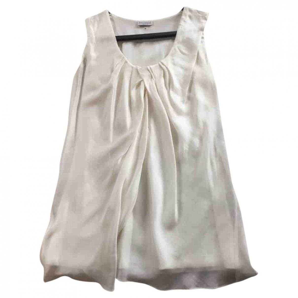 Brunello Cucinelli \N White Silk  top for Women M