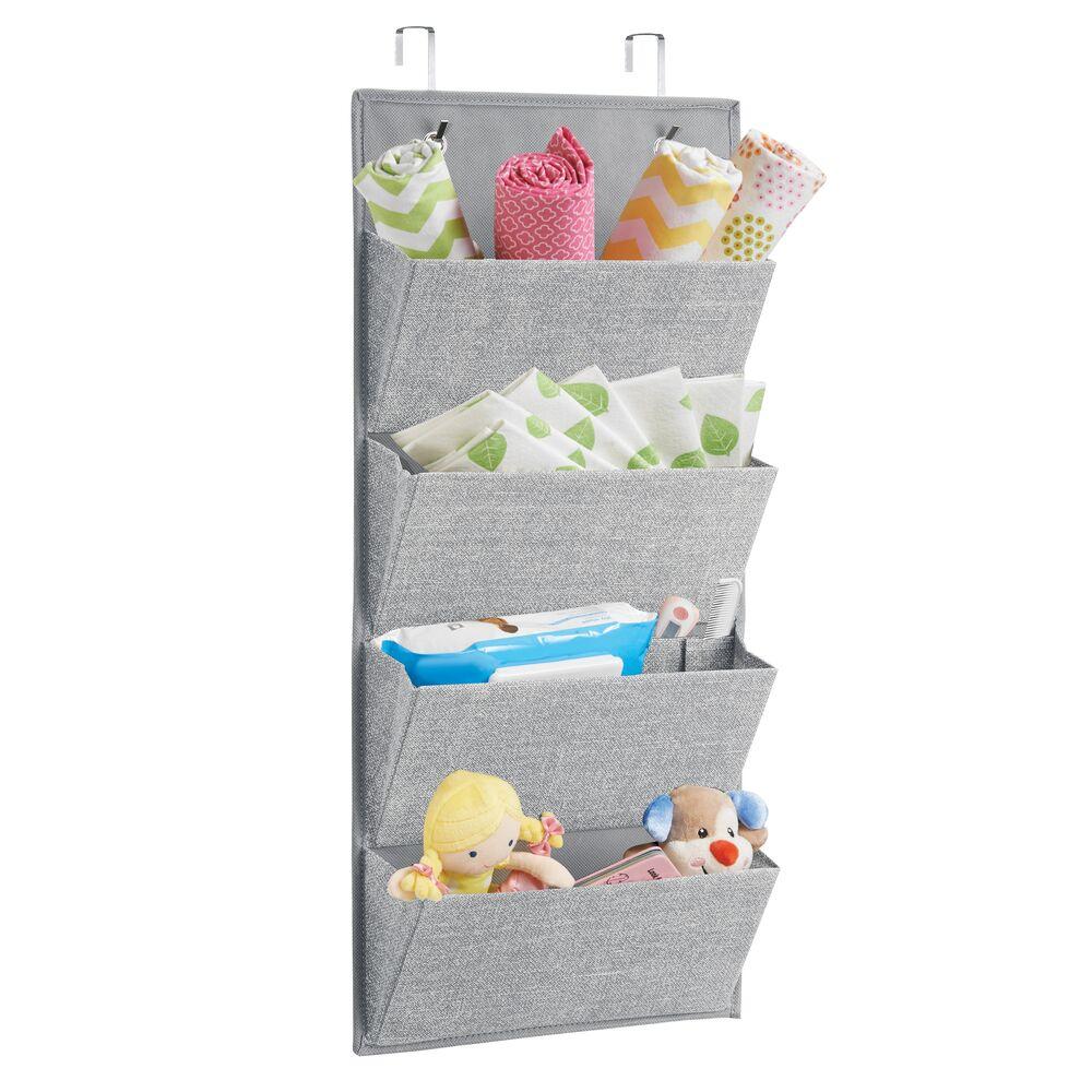 Over Door Fabric Printed Hanging Nursery Storage Organizer in Gray, 3