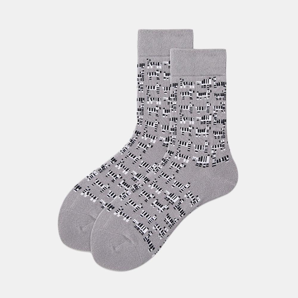 New Couple Illustration Design Socks In Stockings Socks Women