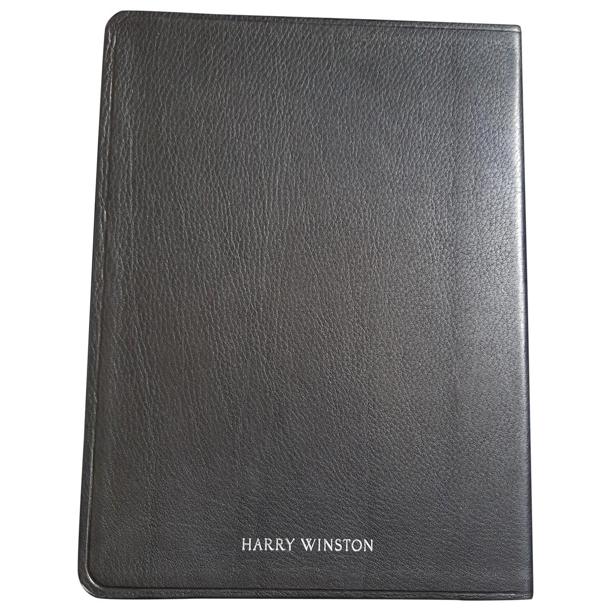 Harry Winston - Objets & Deco   pour lifestyle en cuir - noir