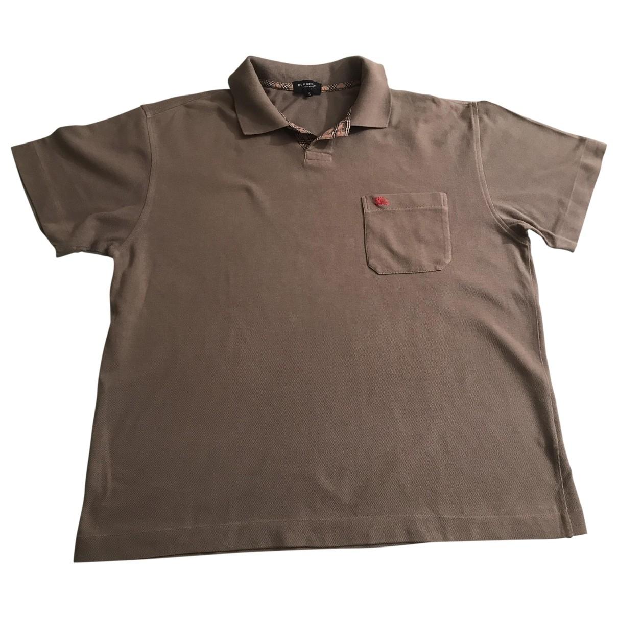 Burberry - Polos   pour homme en coton - kaki