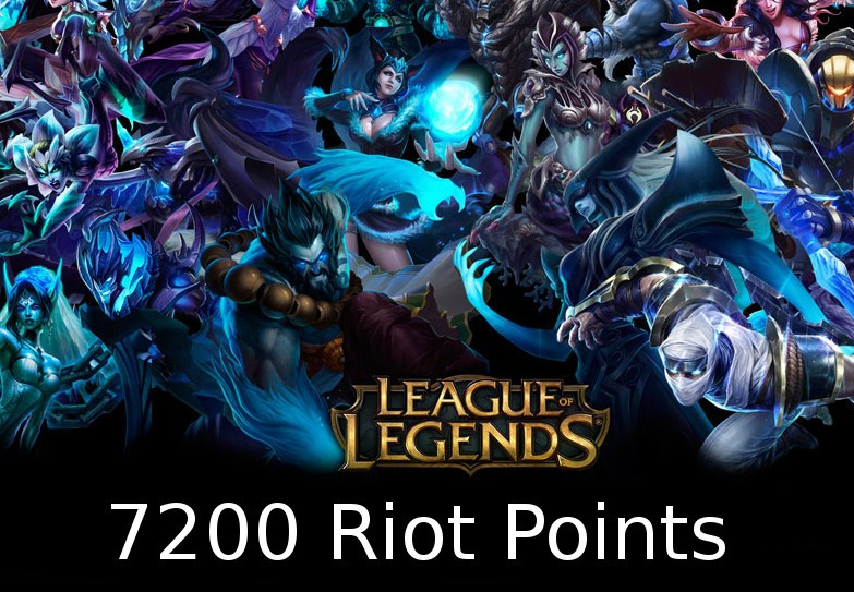 League of Legends 7200 RP Prepaid Card EU