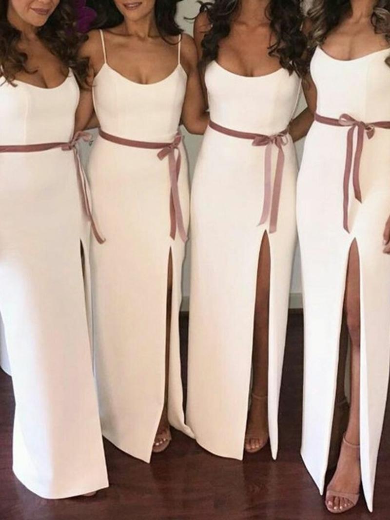 Ericdress Column Spaghetti Straps Sashes Bridesmaid Dress