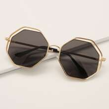 Double Metal Frame Sunglasses With Case