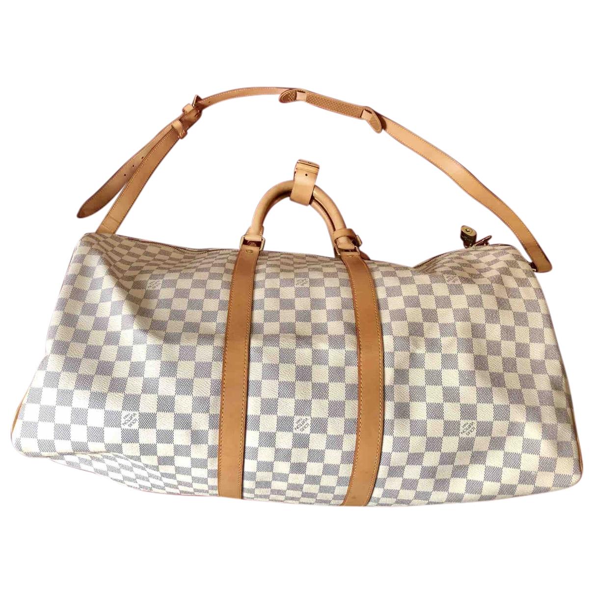 Louis Vuitton Keepall Reisetasche in Baumwolle