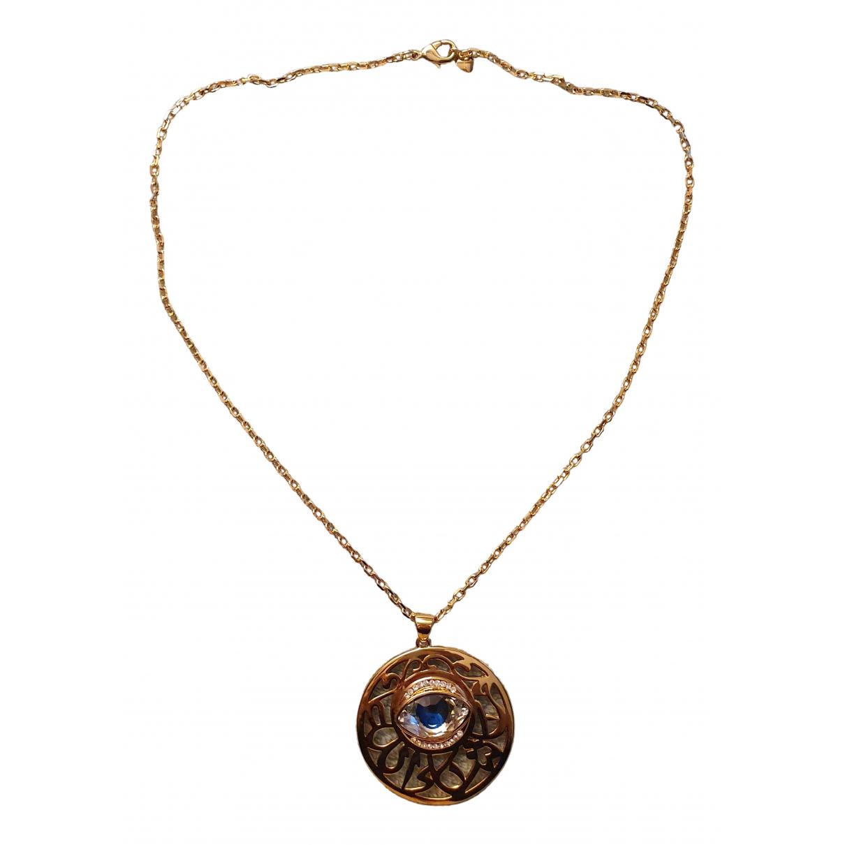 - Collier Motifs Religieux pour femme en plaque or - dore