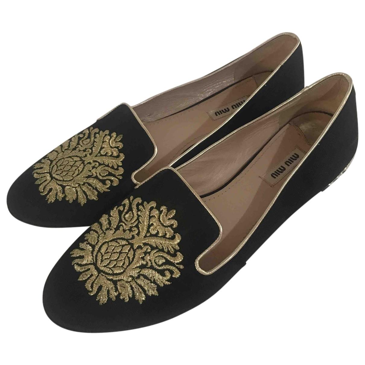 Miu Miu \N Black Cloth Flats for Women 39 IT