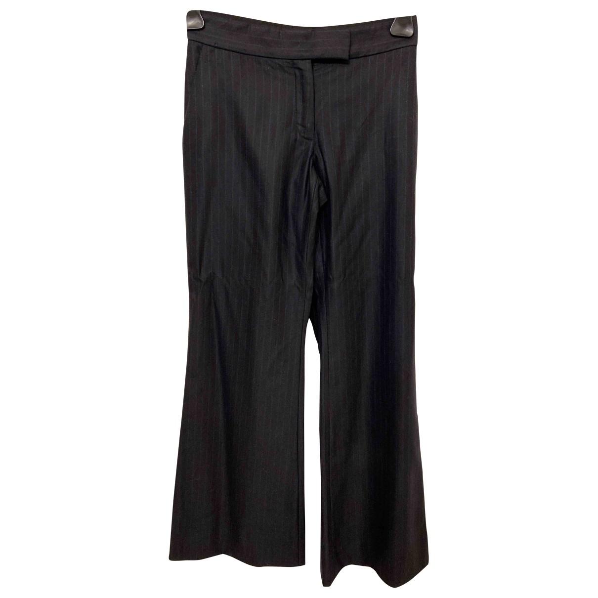 Stella Mccartney \N Black Wool Trousers for Women S International