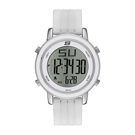 Skechers Westport Womens Chronograph Digital White Strap Watch-Sr6009, One Size , No Color Family