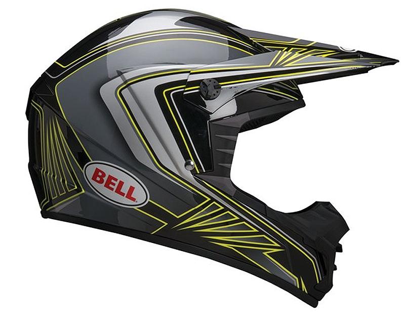 Bell Racing 7028215 SX-1 Sonic Black | Yellow Helmet XS | 54-55