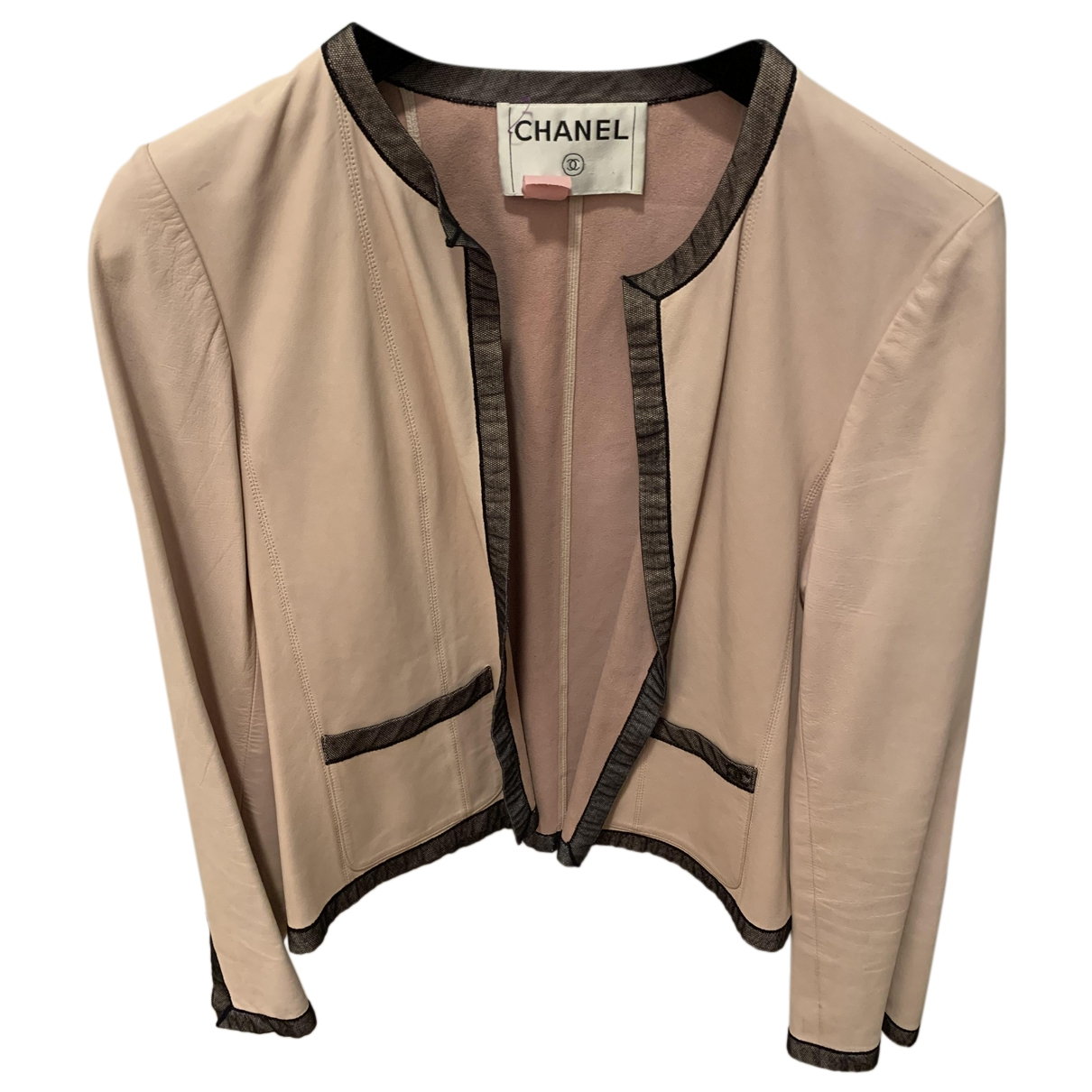 Chanel \N Pink Leather jacket for Women 36 IT