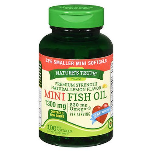 NatureS Truth Vitamins Mini Fish Oil Softgels Premium Strength 100 Caps by Natures Truth