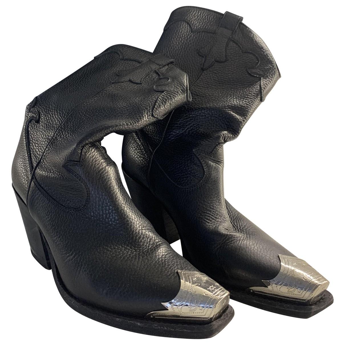 Mcq \N Stiefel in  Schwarz Leder