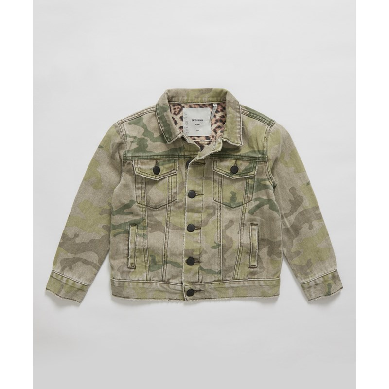 KIDS SAFARI CAMO TRUCKER JACKET