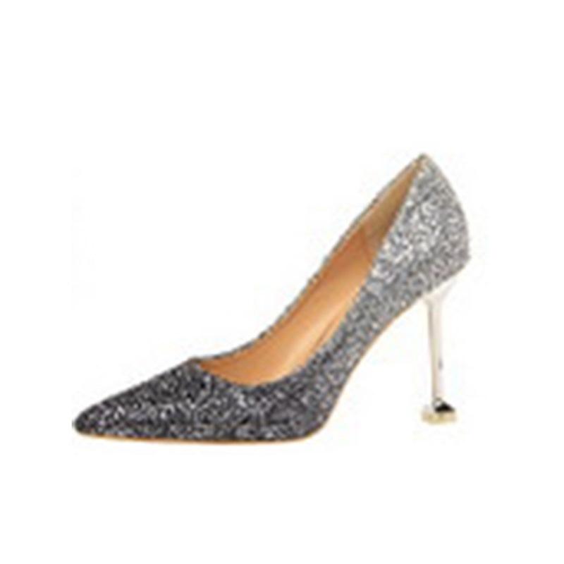 Ericdress Gradient Sequin Stiletto Heel Slip-On Women's Pumps