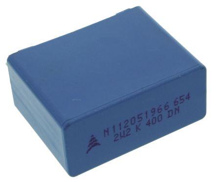 EPCOS 2.2μF Polypropylene Capacitor PP 200 V ac, 400 V dc ±10% Tolerance Through Hole B32654 Series