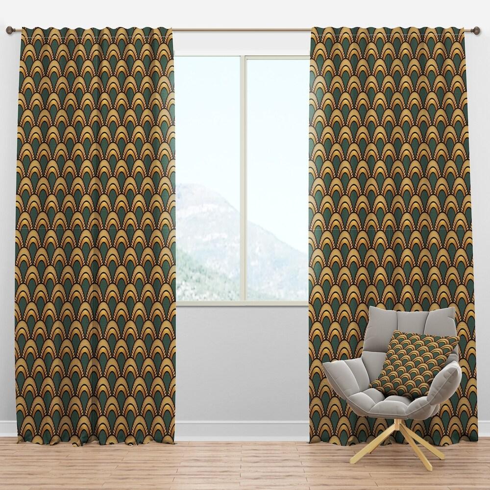 Designart 'Art Deco Pattern' Modern Curtain Panel (50 in. wide x 90 in. high - 1 Panel)