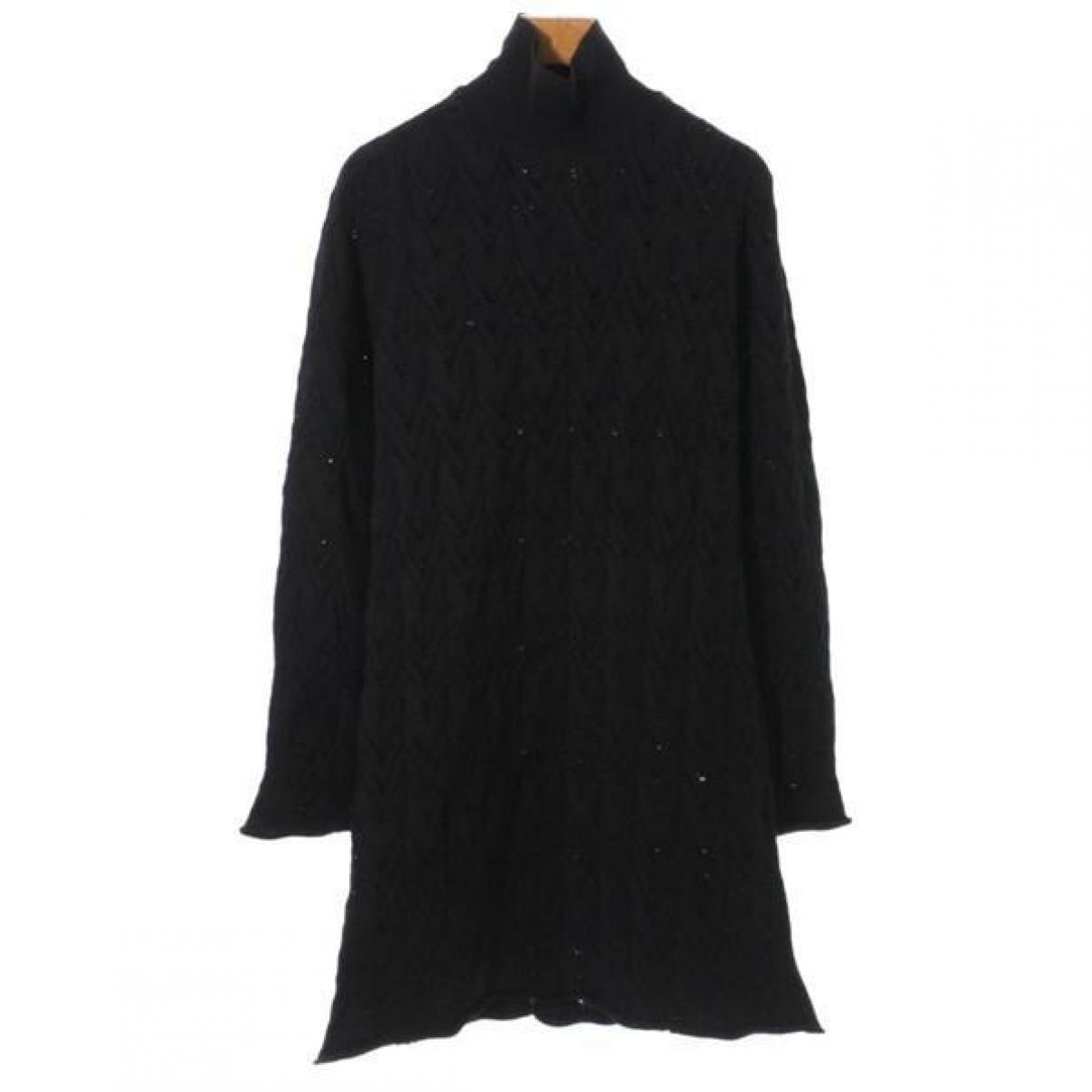 Louis Vuitton \N Black Silk dress for Women L International