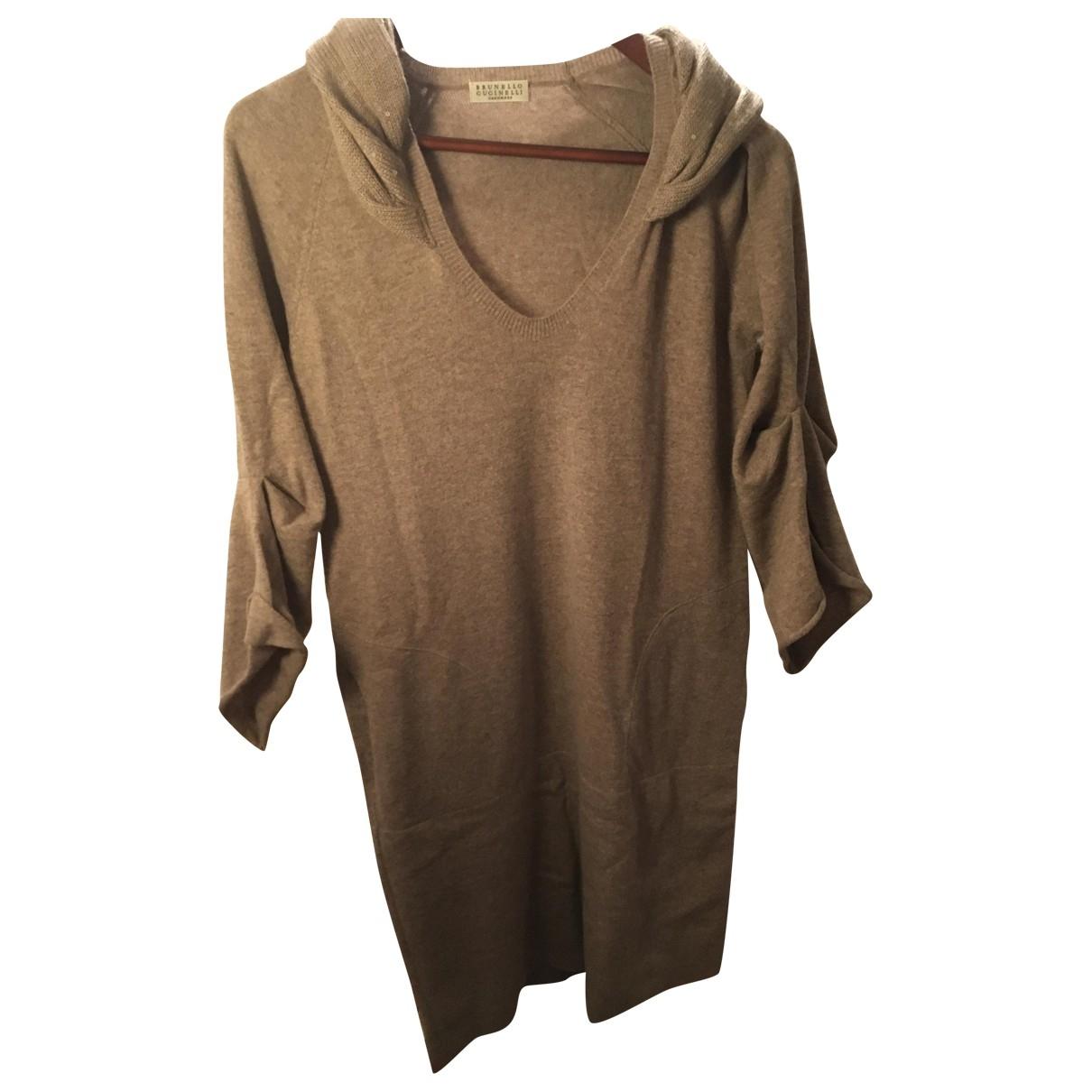 Brunello Cucinelli \N Beige Cashmere dress for Women M International